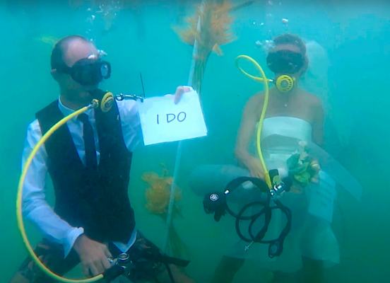 Things You Must Know Before Getting Married Underwater